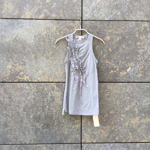 Heather Grey Cotton Y-3 Tank Ruffled Size Xs/S