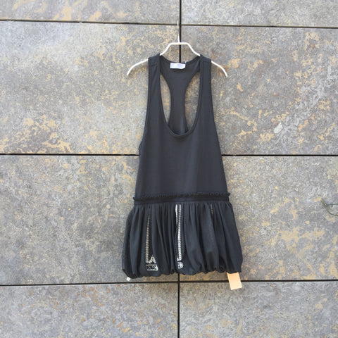 Slate Polyester Mix Adidas by Stella McCartney Tank Dress Racer Back Size S/M