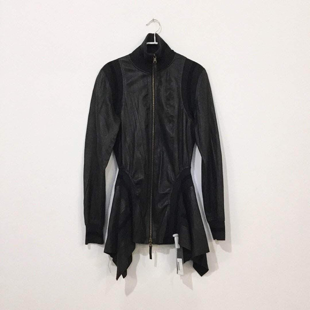 Jean Paul Gaultier Leather Jacket Black Leather / Wool Mix Jean Paul Gaultier Leather Jacket  Size S/M