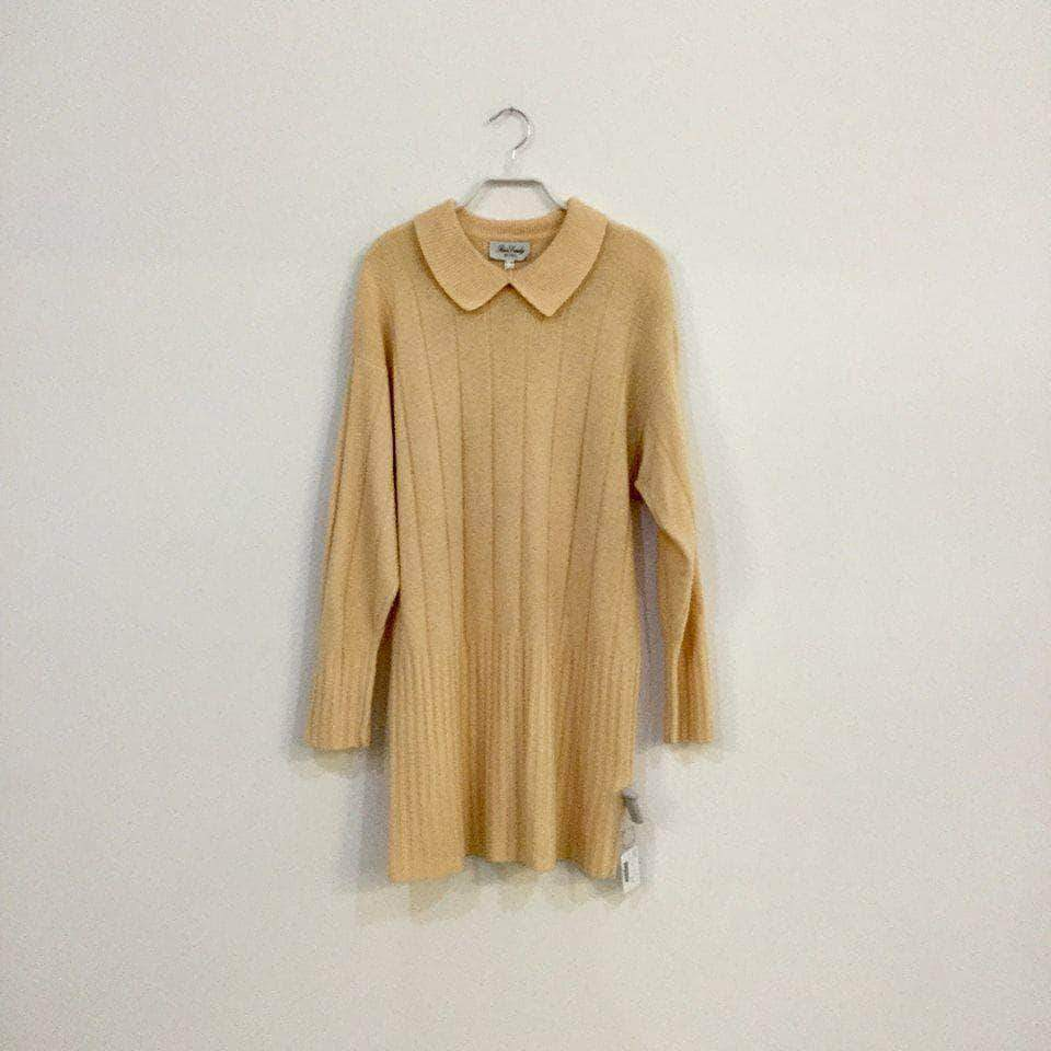 88ae6c0c15a Vintage Sweater Dress Nude White Wool Mix Vintage Sweater Dress Size L Xl  ...
