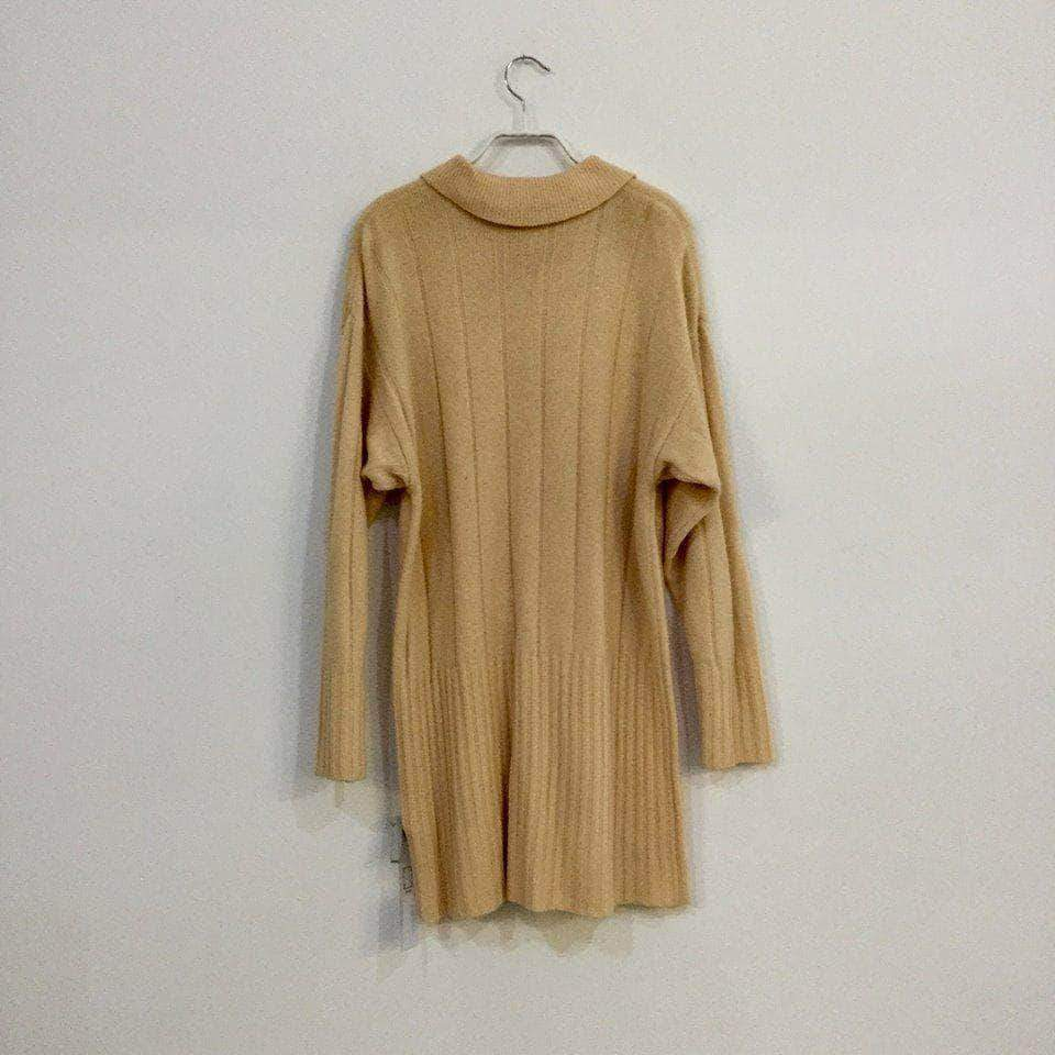 d6871bf5ce6 ... Vintage Sweater Dress Nude White Wool Mix Vintage Sweater Dress Size L  Xl