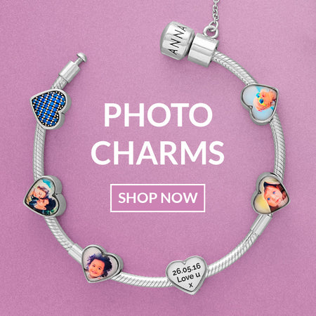 Silver Pandora Photo Charms UK