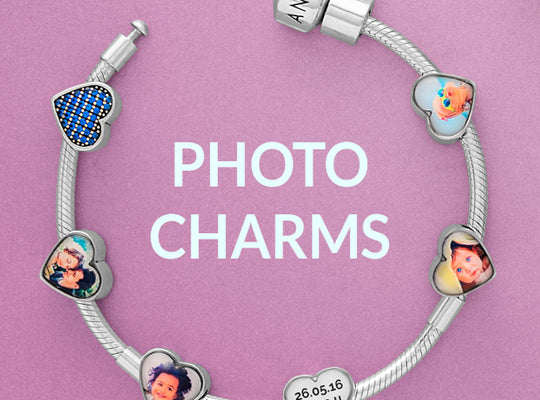 Pandora compatible personalised photo charms