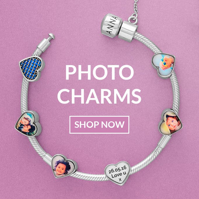 Make your own custom photo charms jewellery making kit Pendant necklace kit