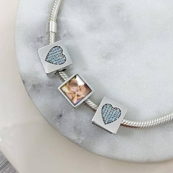 Blue Photo Charm | Photo Charms - Annalise Jewellery