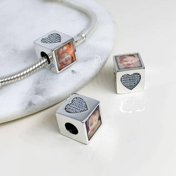 Blue Photo Charm - Photo Charms - Annalise Jewellery