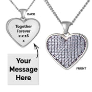 Silver Photo Message Pendant