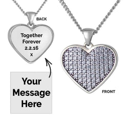 Blue Crystal Message Pendant | Photo Locket - Annalise Jewellery