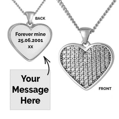 Clear Crystal Message Pendant | Photo Locket - Annalise Jewellery