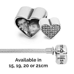 Crystal love Bracelet Set - Photo Charm & Bracelet - Annalise Jewellery