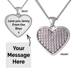 Pink Crystal Message Pendant | Photo Locket - Annalise Jewellery