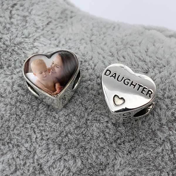 Daughter Photo Charm