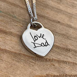 Engraved Handwriting Necklace | Photo Locket - Annalise Jewellery