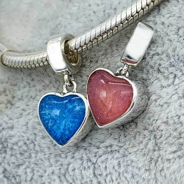Heart Dangle Ashes Charm | Ashes Charms - Annalise Jewellery