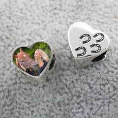 Horse Shoe Prints Photo Charm | Photo Charms - Annalise Jewellery