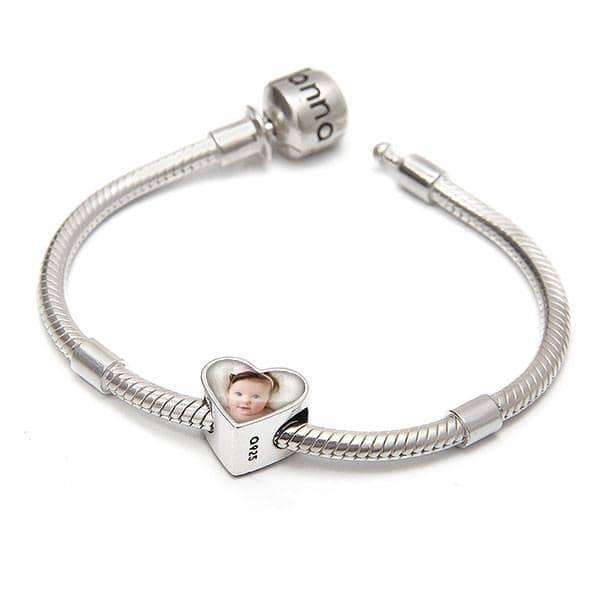 Crystal love Bracelet Set - Photo Charm & Bracelet By Annalise Jewellery