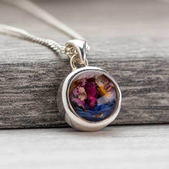 Dried Flowers Sterling Pendant | Dried Flower Jewellery - Annalise Jewellery
