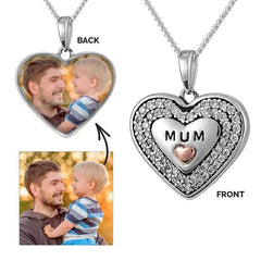 Crystal MUM Photo Pendant