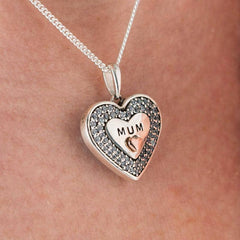 Message to MUM Pendant | Photo Locket - Annalise Jewellery