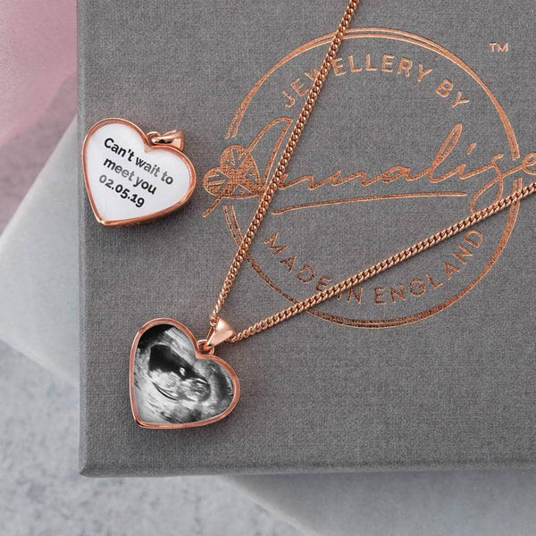 Rose Photo Message Pendant | Photo Locket - Annalise Jewellery