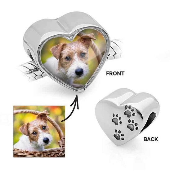 Pet Paws Photo Charm - Photo Charms - Annalise Jewellery