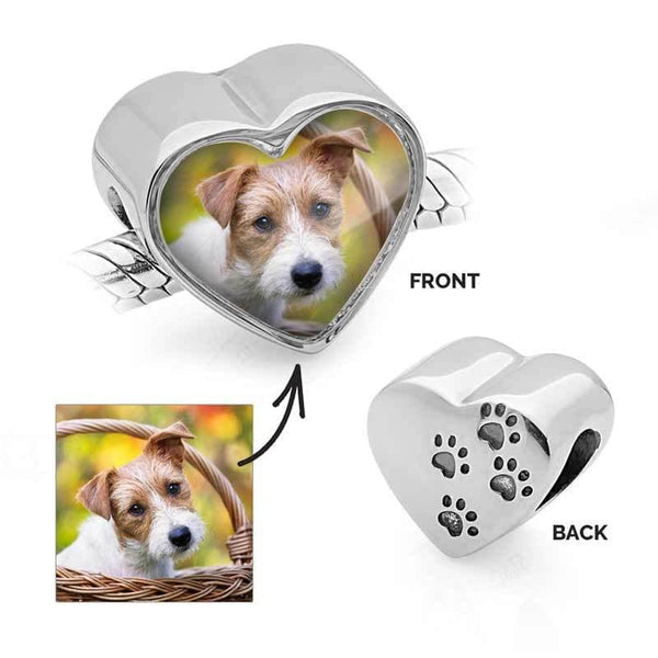 Pet Paws Photo Charm | Photo Charms - Annalise Jewellery