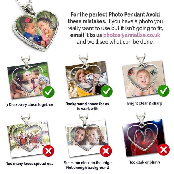 Silver Photo Message Pendant | Photo Locket - Annalise Jewellery