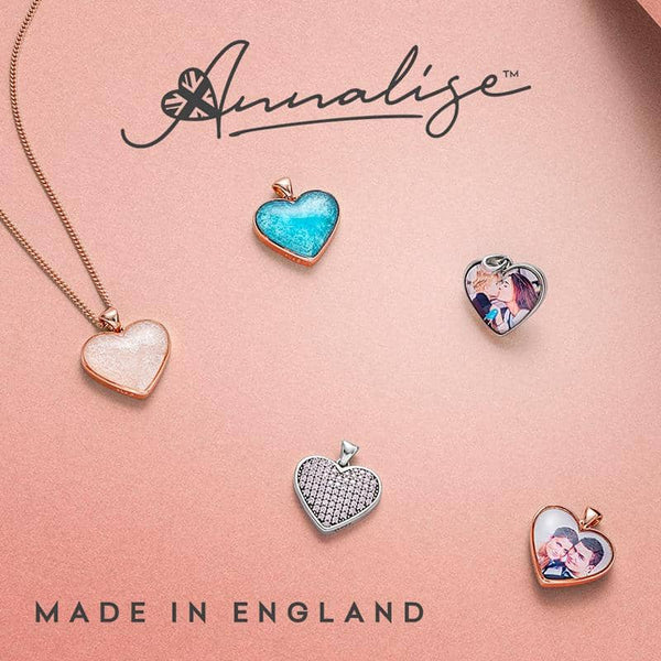 Crystal Pink Photo Pendant - Photo Locket - Annalise Jewellery
