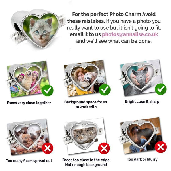 Pet Paws Photo Charm - Photo Charms By Annalise Jewellery