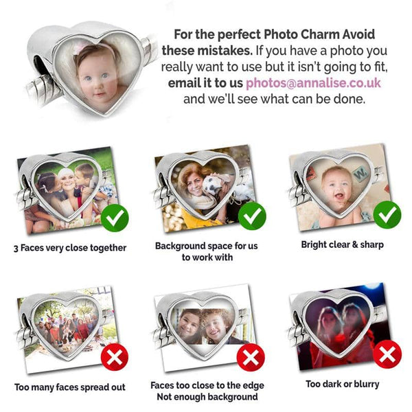 Sapphire Photo Charm - Photo Charms By Annalise Jewellery