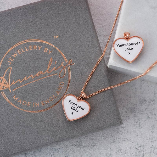 Crystal Gold Message Pendant - Photo Locket By Annalise Jewellery