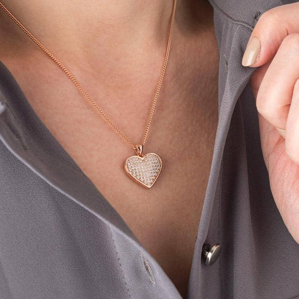 Crystal Gold Message Pendant | Photo Locket - Annalise Jewellery