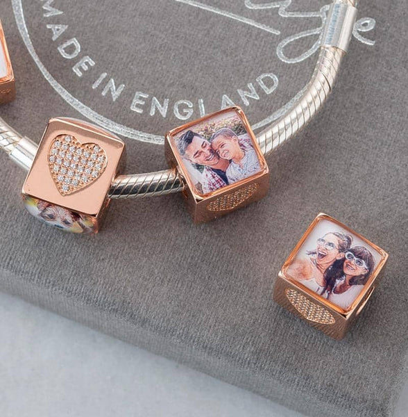 Rose Desire Charm | Rose Gold Photo Charm - Annalise Jewellery