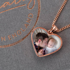 Rose Double Photo Pendant | Photo Locket - Annalise Jewellery