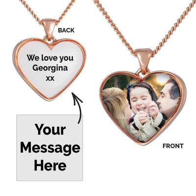 Rose Photo Message Pendant
