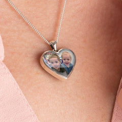 Silver Double Photo Pendant - Photo Locket By Annalise Jewellery