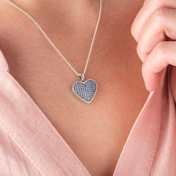 Blue Crystal Message Pendant - Photo Locket By Annalise Jewellery