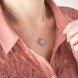 Pink Crystal Ashes Pendant | Ashes Pendant - Annalise Jewellery