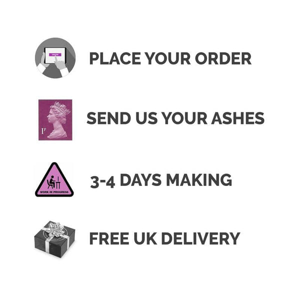 Dark Pink Ashes Charm - Ashes Charms By Annalise Jewellery