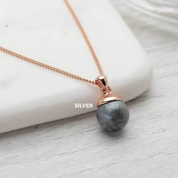 Rose Gold Sphere Ashes Pendant | Ashes Pendant - Annalise Jewellery