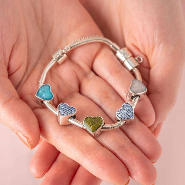 Blue Crystal Ashes Charm - Ashes Charms By Annalise Jewellery