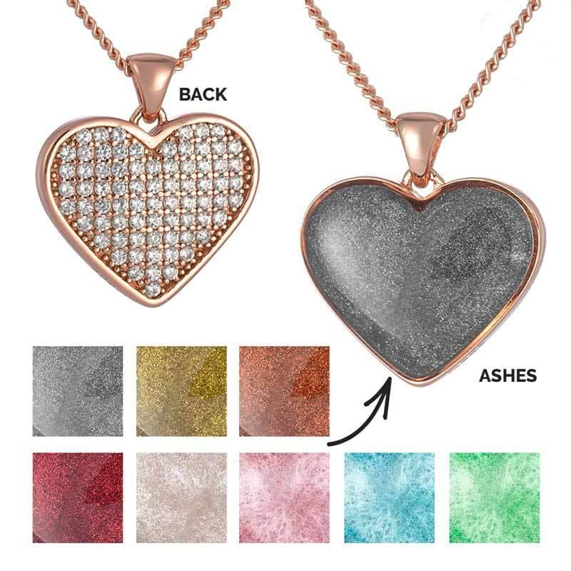Rose Gold Ashes Pendant Memorial Jewellery By Annalise Uk Annalise Jewellery