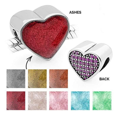 Dark Pink Ashes Charm