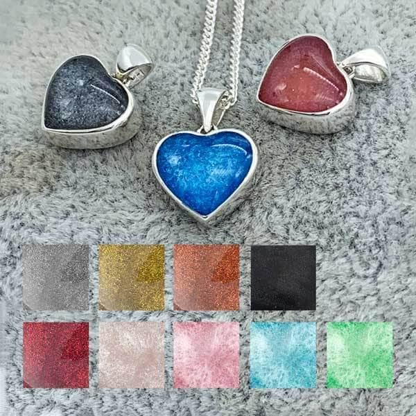 Love Heart Ashes Pendant | Ashes Pendant - Annalise Jewellery