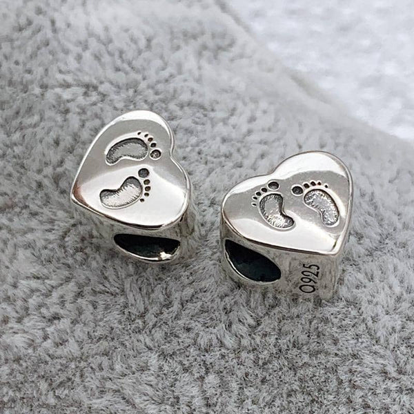 Foot Prints Ashes Charm | Ashes Charms - Annalise Jewellery