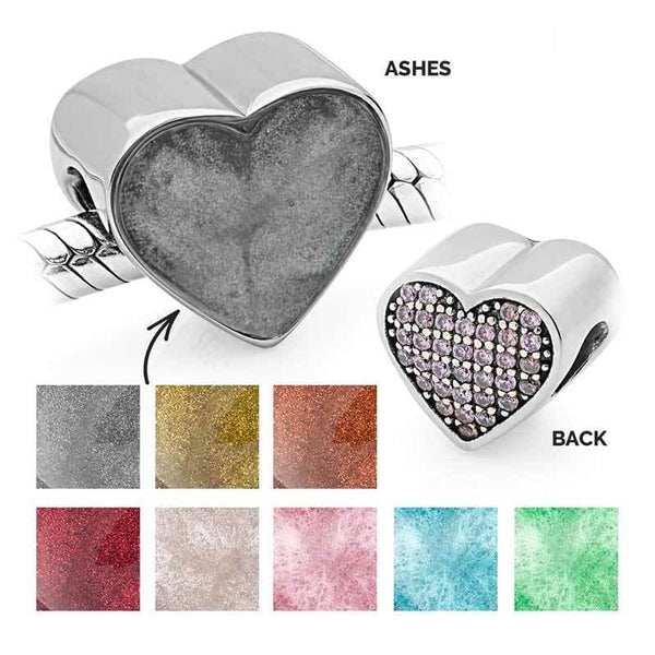 Pink Crystal Ashes Charm | Ashes Charms - Annalise Jewellery