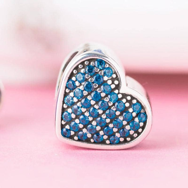 Sapphire Crystal Ashes Charm - Ashes Charms By Annalise Jewellery
