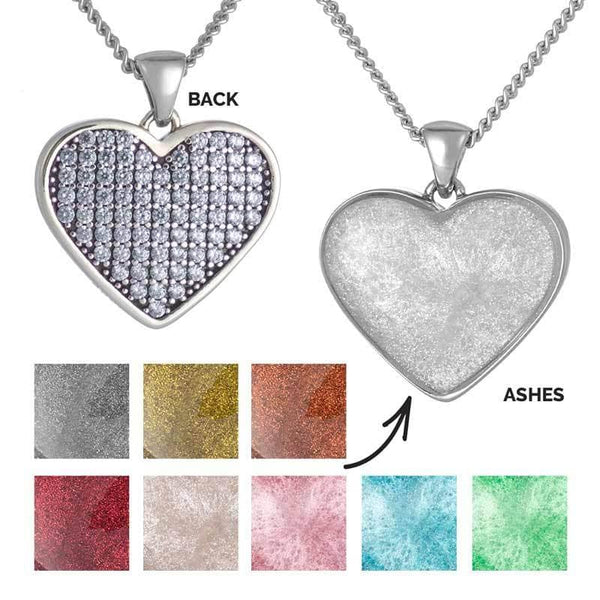 Blue Crystal Ashes Pendant | Ashes Pendant - Annalise Jewellery