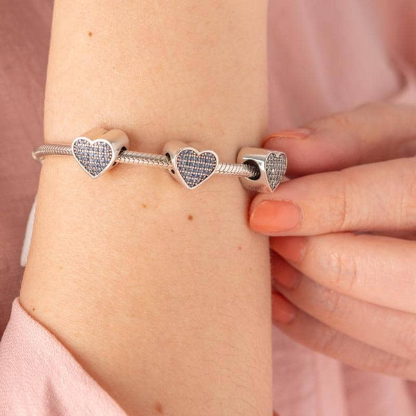 Blue Message Charm | Photo Message Charms - Annalise Jewellery