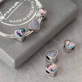Blue Crystals Photo Charm | Photo Charms - Annalise Jewellery